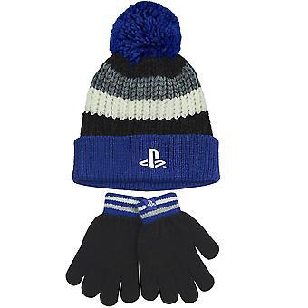 Playstation Childrens/Kids Bobble Hat And Gloves Set