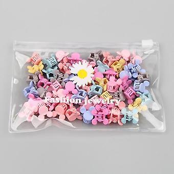 Filles Baby Heart Flower Crown Animals Pinces à cheveux colorées