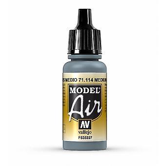 Vallejo Model Air 114 Medium Grey - 17ml Acrylic Airbrush Paint