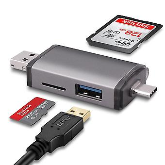 3 In 1 Usb 2.0 Type-c To Micro Sd Card Reader