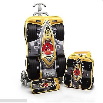 Kids Cars Travel Luggage 3d Stereo Climb Stairs Pull Rod Box