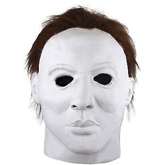 Giocattoli hockey Michael Myers Maschera Horror Viso Bianco Copricapo Lattice Lattice Capelli Halloween Fancy Dress