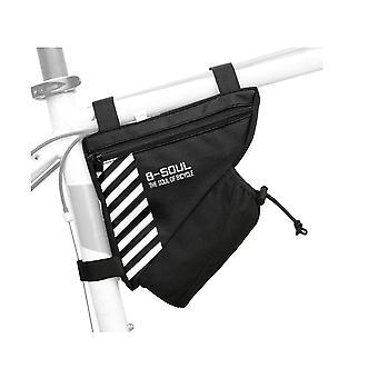 الدراجة مثلث حقيبة دراجة دراجة تخزين حقيبة مثلث السرج ركوب الدراجات الإطار الأعلى أنبوب حقيبة MTB دراجة السرج الإطار الحقيبة مع المياه زجاجة جيب(أسود)