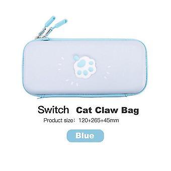 תיק חתול חמוד עבור נינטנדו מתג אחסון שקית כיסוי תיק עבור תיק מתג נינטנדו (כחול)