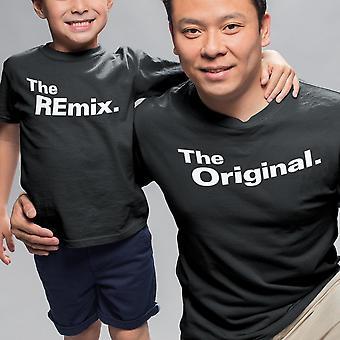 Rodinné tričko - The Original The Remix Dad Mom &deti