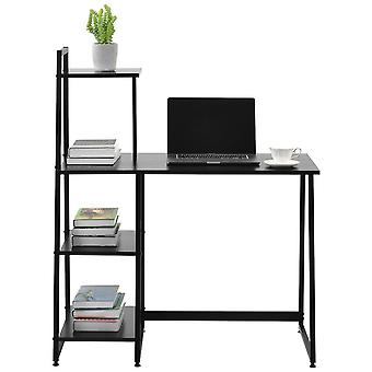 4 Tier Computer Desk With Storage Shelves Table For Small Spaces