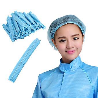 100 Pcs Disposable Head Cover Mob Cap Hat Hair Net Non Woven Anti Dust Hats