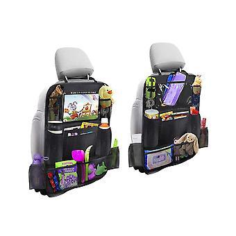 1pcs Backseat Car Organizer Kick Mats Backseat Storage Bag