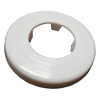 Witte rozet kraag Rose Cover voor Pipe gaten gaten verbergen 40mm Diameter