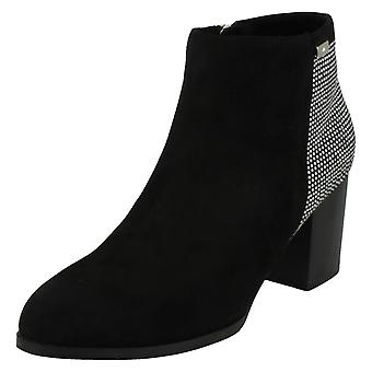 Ladies Anne Michelle Block Heel Ankle Boots F50685