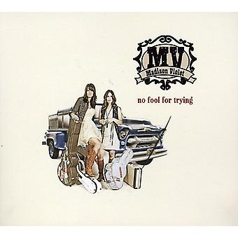 Madison Violet - No Fool for Trying [CD] USA import