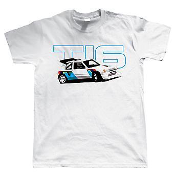 205 T16 Classic Group B Rally Car, T Camicia - Regalo per papà Compleanno