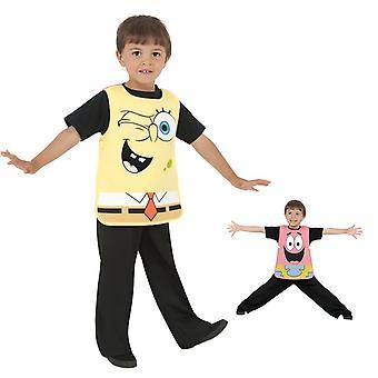 SpongeBob Patrick 2 în 1 costum pentru copii schimbarea costum