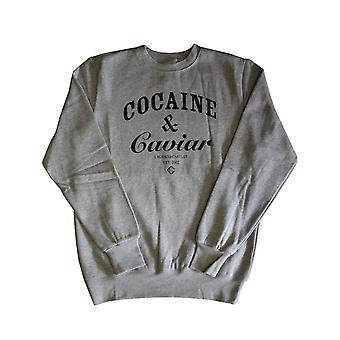 Crooks & Castles Cocaine & Caviar Sweatshirt Heather Grey