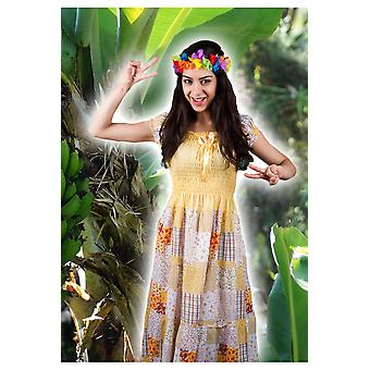 Costumes femme femmes Hippie robe avec des fleurs