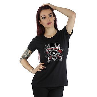Guns N Roses Women's Distressed Death's Head T-Shirt