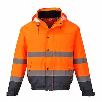 RSU - Hi-Vis sicurezza Workwear due tono Bomber Jacket