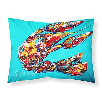 Lucy the Crawfish in blue Moisture wicking Fabric standard pillowcase
