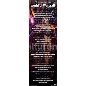 World Of Warcraft spiller mye plakat plakatutskrift