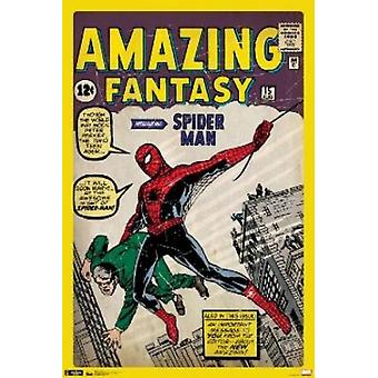 Marvel Spiderman Cover Poster Poster Print