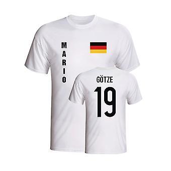 Mario Gotze Germany Flag T-shirt (white)