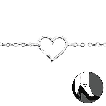 Heart - 925 Sterling Silver Anklets - W23955X