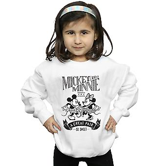 Disney Girls Mickey And Minnie Mouse Great Pair Sweatshirt