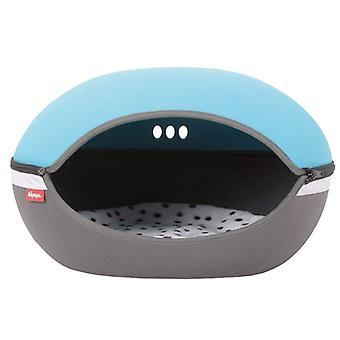 Ibiyaya Little Arena Fun Space Saving Cozy Pet Bed with Ventilation, Blue