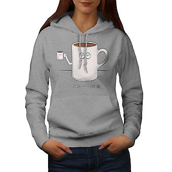 Cup Of Coffee Women GreyHoodie | Wellcoda