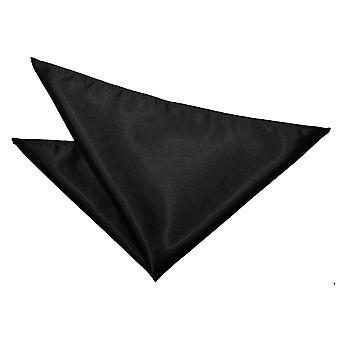 Mouchoir de poche noir brut satiné