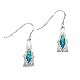 Sterling Silver Traditional Contemporary Modern Ritzy Design Pair of Earrings - EE466
