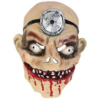 Horror masker gekke dokter bloedige driekwart masker LaTeX Halloween