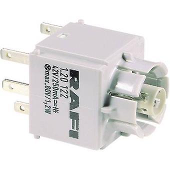 RAFI 1.20122.001 Contact + bulb holder 1 breaker, 1 maker momentary 250 V 1 pc(s)