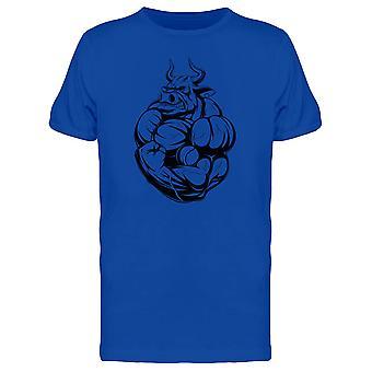 Strong Bull Flexing Tee Men's -Image by Shutterstock
