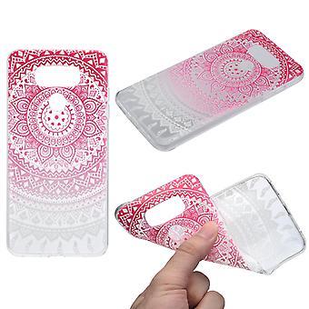 Tampa do Henna para silicone caso capa protetora de LG G6 rosa do sol