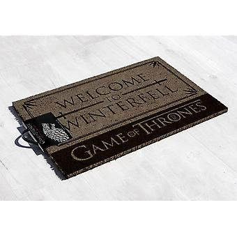 Peli Thrones Tervetuloa matot tulostaa Winterfell, kookoskuidut, alhaalla valmistettu PVC.