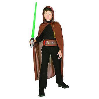 Blister de Jedi STAR WARS pour accessoires enfants Carnaval costume ensemble Cape avec sabre-laser capuche ceinture