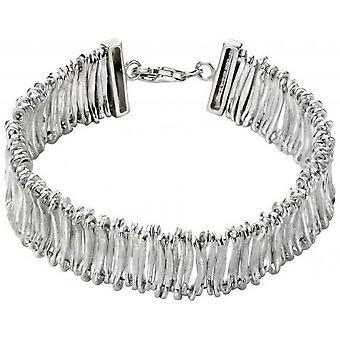 Beginnings Articulated Textured Bracelet - Silver