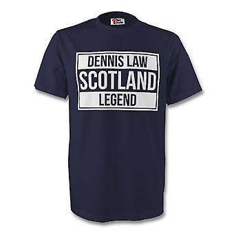 Dennis Law Scotland Legend Tee (navy)