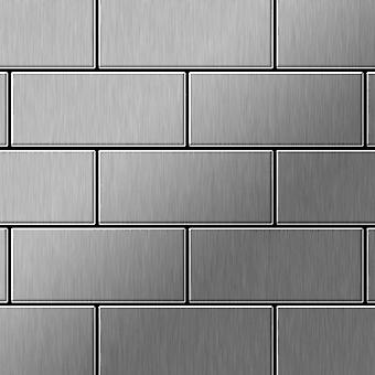 Metal mosaic Stainless Steel ALLOY Subway-S-S-MB