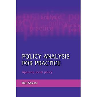 Policy-Analyse für die Praxis: die soziale Politik