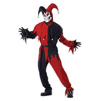 Mens kwaad Jester Joker Halloween Clowns & Circus Film Fancy Dress kostuum