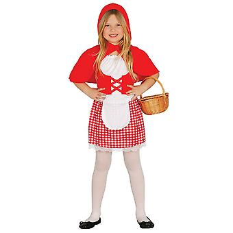 Girls Little Red Riding Hood Fancy Dress Costume