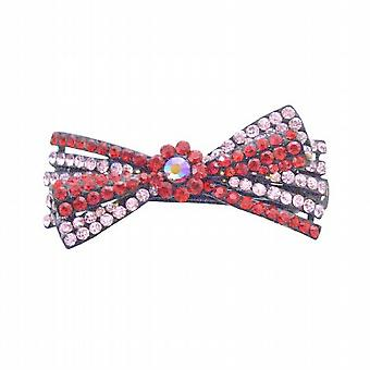 Siam Red Rhinestones & Rosaline Prom Hair Barretted Gogeou Hair Clip