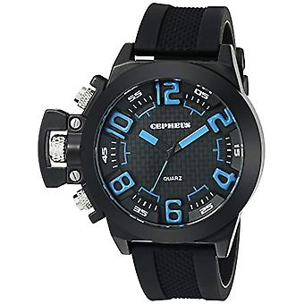 CEPHEUS CP901-622B-men's wristwatch, silicone, color: black