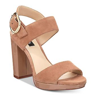 DKNY Womens sino couro aberto Toe Casual Slingback sandálias