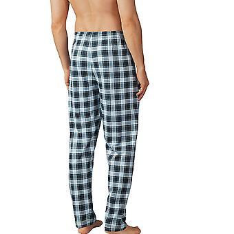 Mey Men 18960-188 Men's Lounge Ciel Grey Plaid Pyjama Pant