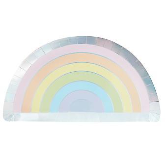 Papel del partido pastel placas x 8 Partyware