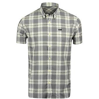 RVCA Mens VA Sport Akasa Short Sleeve Shirt - Vintage White/Gray
