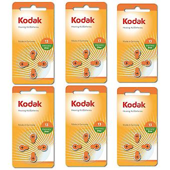 24-Teilige Kodak Zink-Air Hörgerätebatterien 13, A13, PR48, Orange Colour